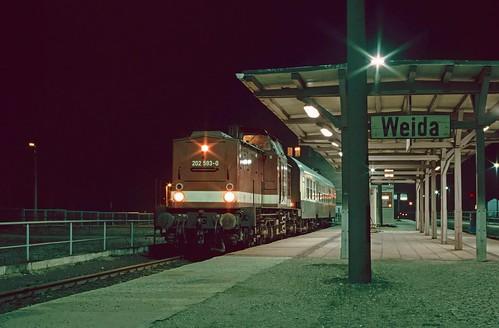 202 593 at Weida, Germany. 20/01/94.