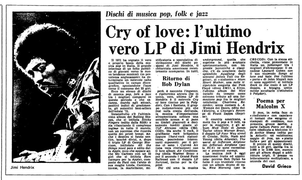 L'UNITA (ITALY) JUNE 29, 1971