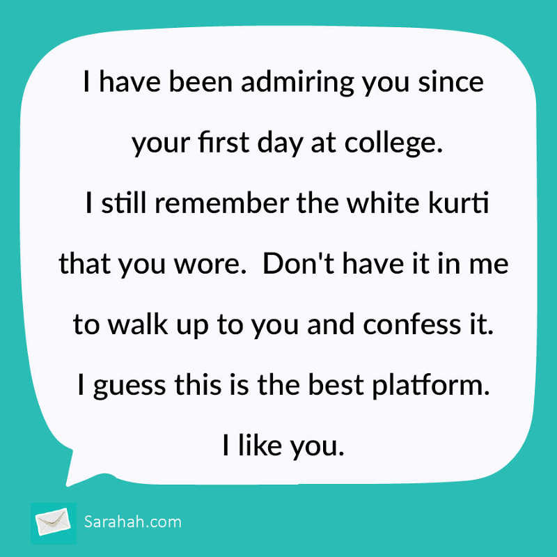 Sarahah Confessions