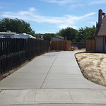 Second Concrete Driveway In Vacaville
