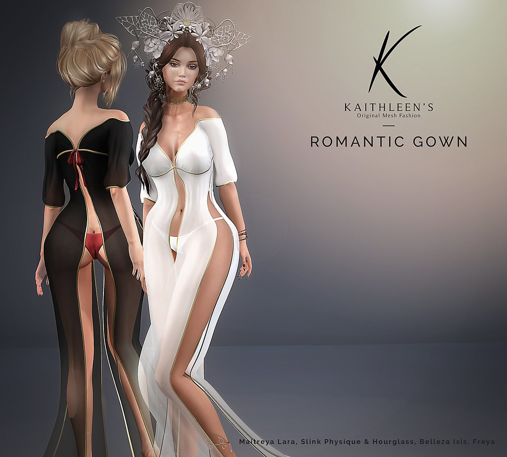 Kaithleen's Romantic Loose Dress Poster - SecondLifeHub.com