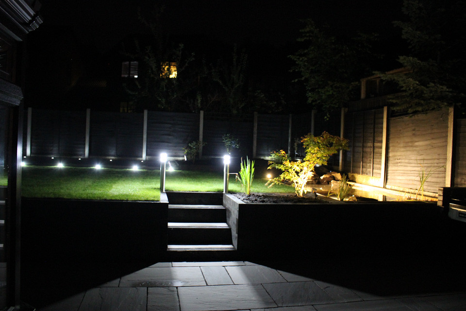 over the last few weeks i have my garden redesigned so while the landscapers were working on the garden i took the opportunity to install smart lighting in - Garden Lighting
