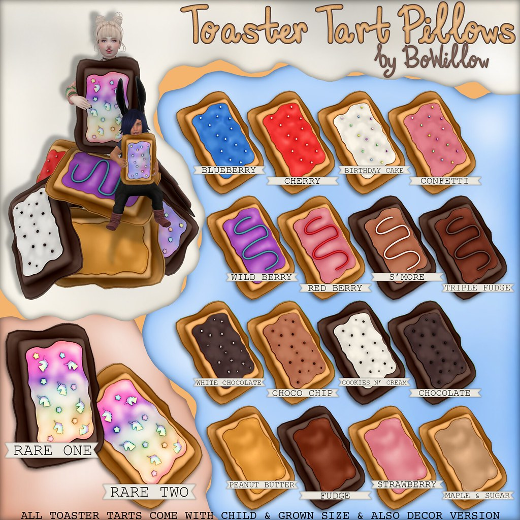 Toaster Tart Pillows Gacha Ad - SecondLifeHub.com