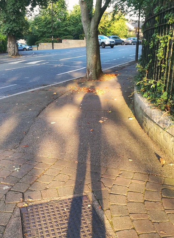 My stretched shadow in South London