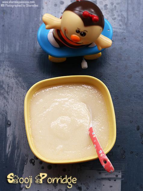 Sooji porridge recipe for babies