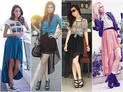 Beautiful with Asymmetrical Mullet Skirt