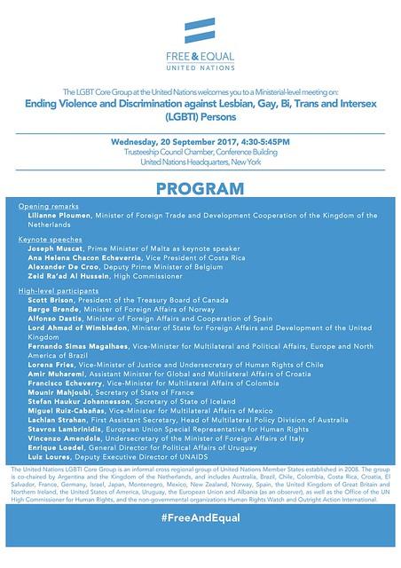 UNGA LGBTI Core Group Meeting