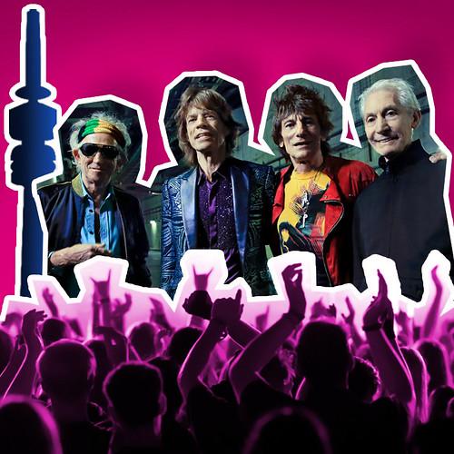 Rolling Stones auf dem Olympiaturm