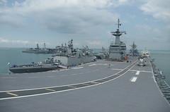 HTMS Chakri Naruebet (911) Offshore Patrol Helicopter Carrier Changi Singapore