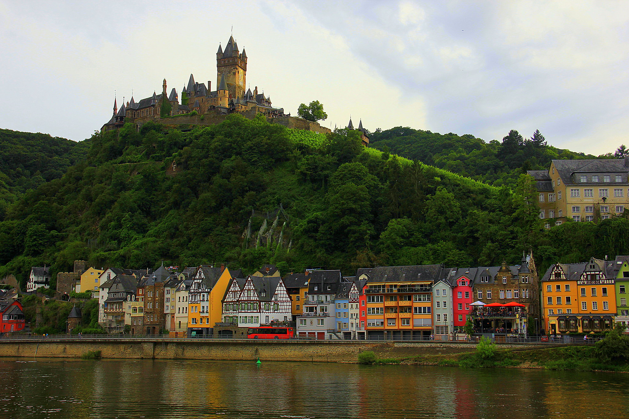 CChem castle can be seen from the Moselle River