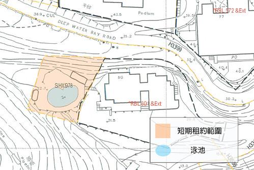 圖十四 深水灣道80號相連的短期租約泳池