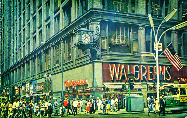 The World's Busiest Corner, State and Madison Streets, Chicago, Illinois