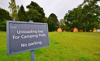 Blair Castle Camping Pod area at Blair Atholl Caravan Park
