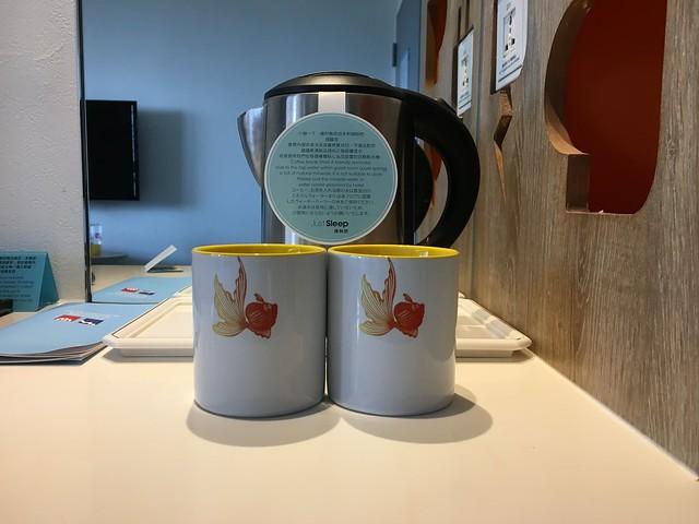 杯身上的金魚很可愛@宜蘭捷絲旅礁溪館
