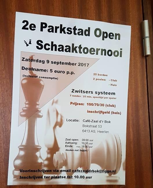 2017 2e Parkstad Open toernooi