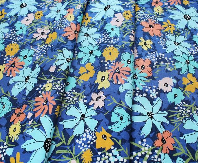 Moda Fabrics Wild Nectar 11800-17 Navy