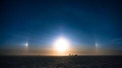 South Pole Moon Dog