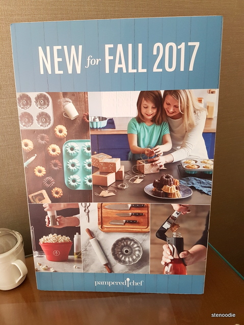 Pampered Chef new fall products sign