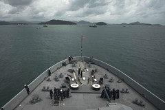 USS San Diego (LPD 22) anchors off the coast of Phuket, Aug. 17. (U.S. Navy/MC3 Justin A. Schoenberger)