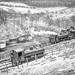 GWR Pannier tanks 9682 and 9611 Shunting at Dyffyrn Rhondda Colliery South Wales 1965 Peter Brabham collection