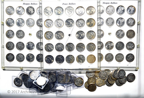 U.S. Morgan & Peace Silver Dollar Collection, Nearly Complete – 1878 to 1935