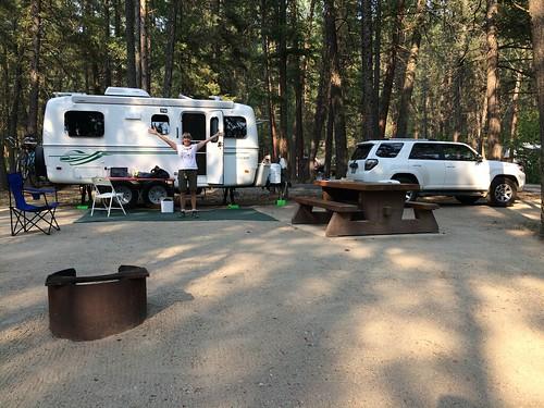 Wasa campsite on Linda birthday