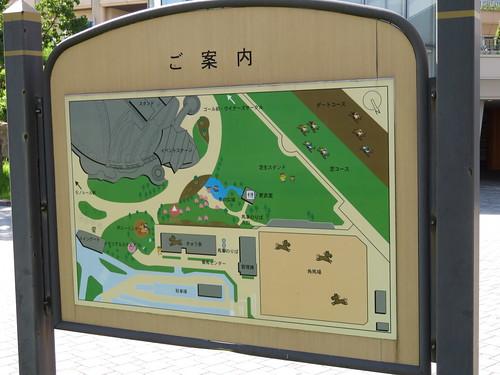 小倉競馬場の公園マップ