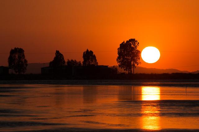 Sunset in Messolongi, Greece