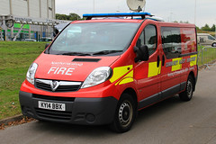 Northumberland Fire And Rescue Service Vauxhall Vivaro Community Safety Department Vehicle