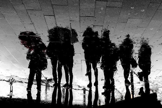 Waiting in the rain....
