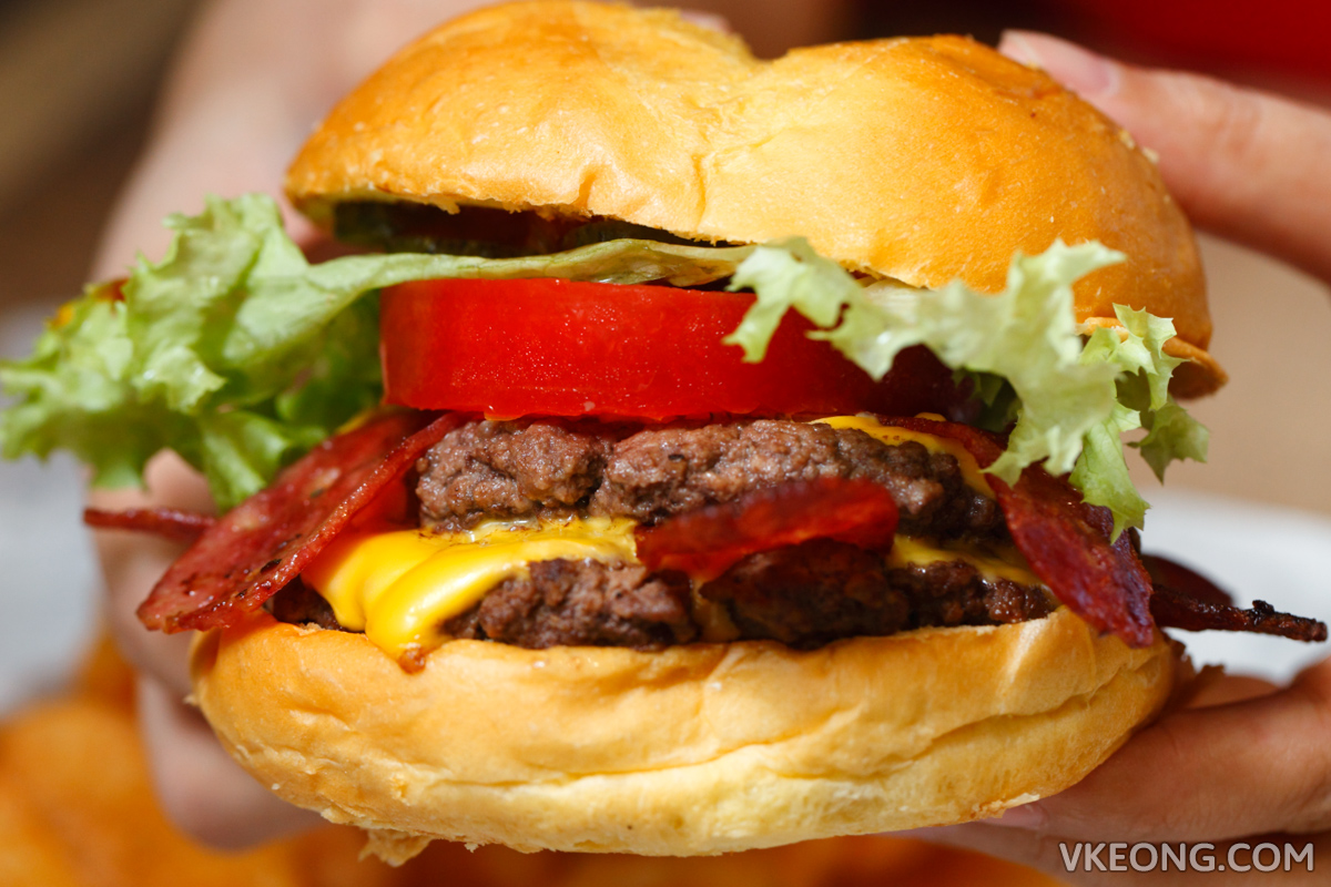 Wayback Burgers Double Beef Bacon Burger