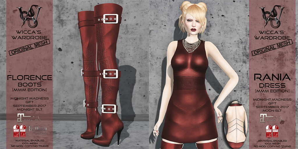 Wicca's Wardrobe @ Monthly Midnight Madness September 2017 - SecondLifeHub.com