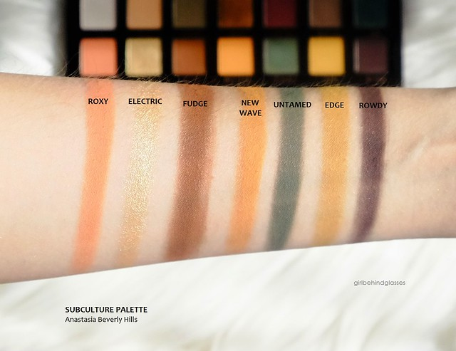 Anastasia Beverly Hills Subculture palette row2 swatches