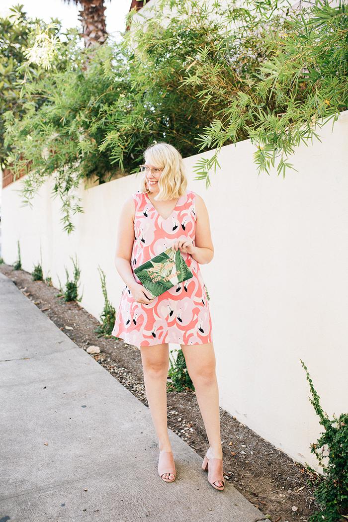 austin style blogger writes like a girl flamingo dress2