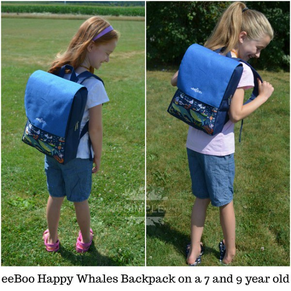 eeBoo Happy Whales Backpack comparison on The SIMPLE Moms