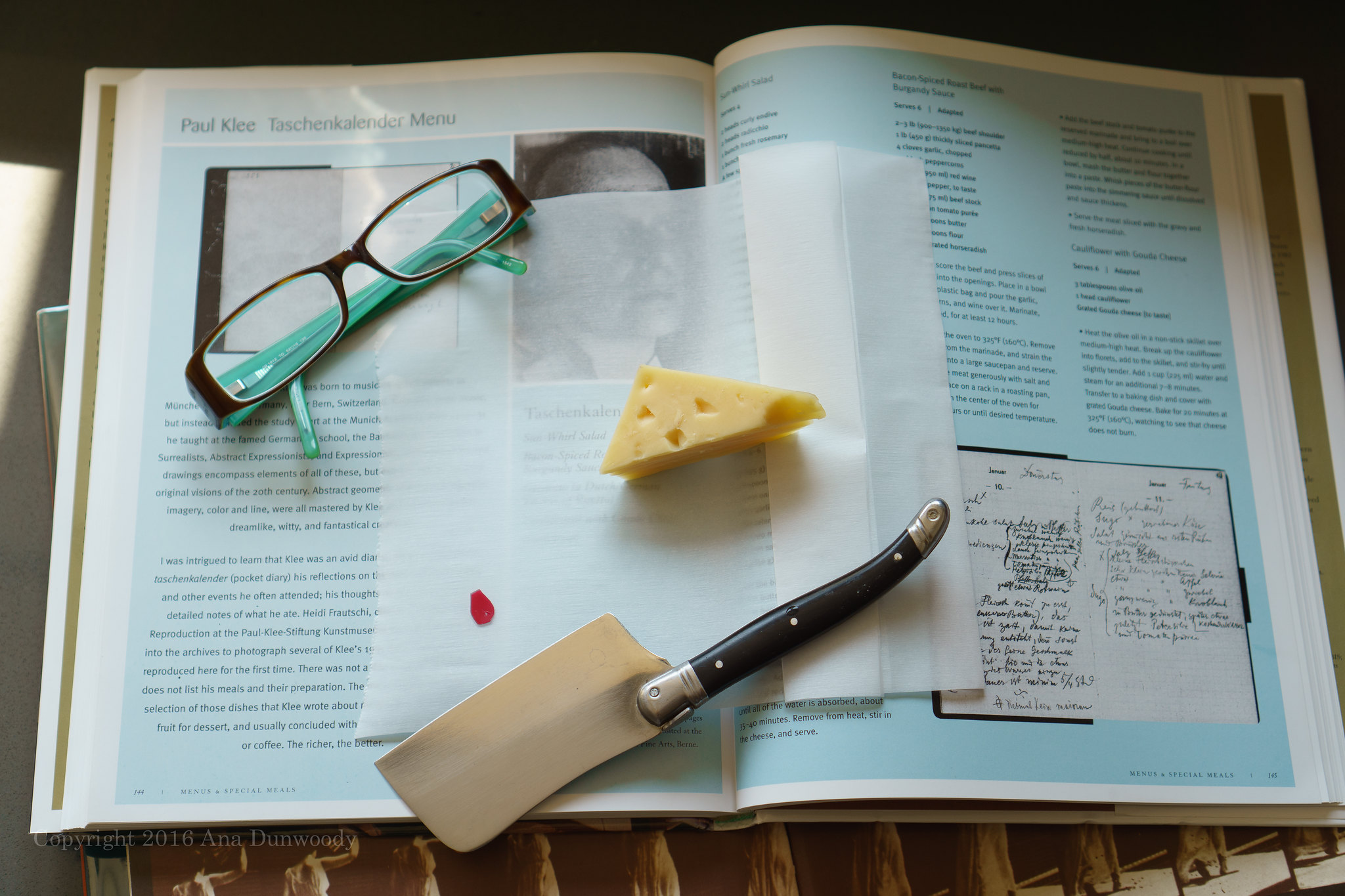 Gouda Cheese - homage to Paul Klee