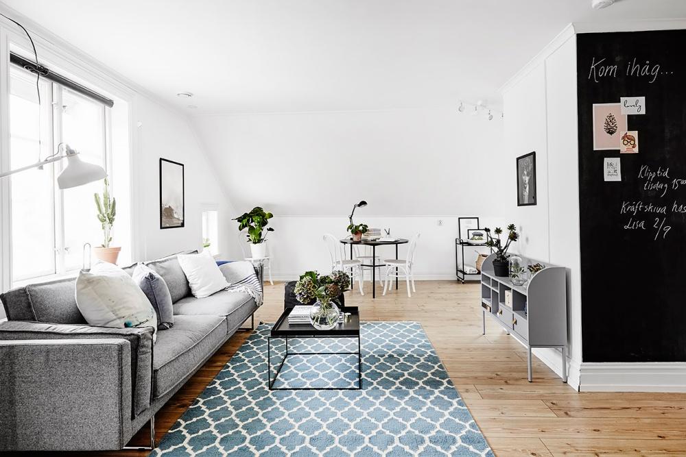A Light Filled Studio Apartment in Sweden