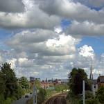 White fluffy clouds at Ashton, Preston