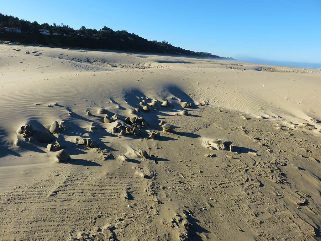 Interesting sand formations