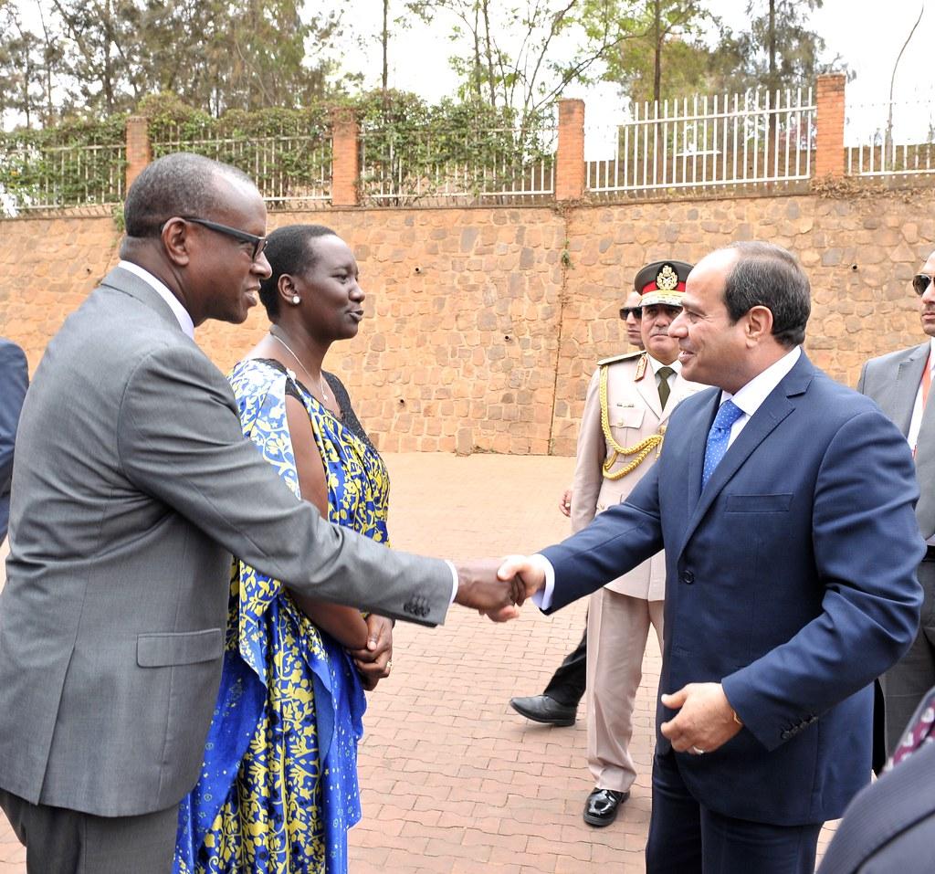 President of Egypt Abdel Fattah El Sisi visit to the Kigali Genocide Memoria