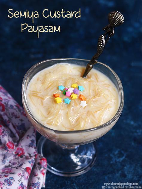 vermicelli custard payasam recipe