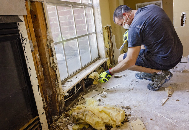Southern Baptist Disaster Relief mud-out in Houston after Hurricane Harvey