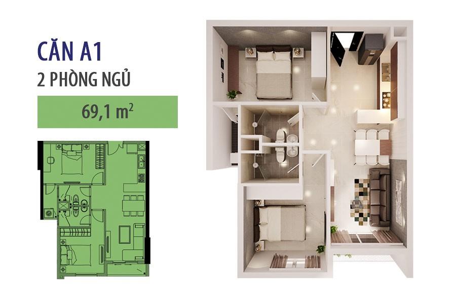 """Mẫu căn hộ A1 - cho thuê căn hộ SHP  <img src=""""images/"""" width="""""""" height="""""""" alt=""""Công ty Bất Động Sản Tanlong Land"""">"""