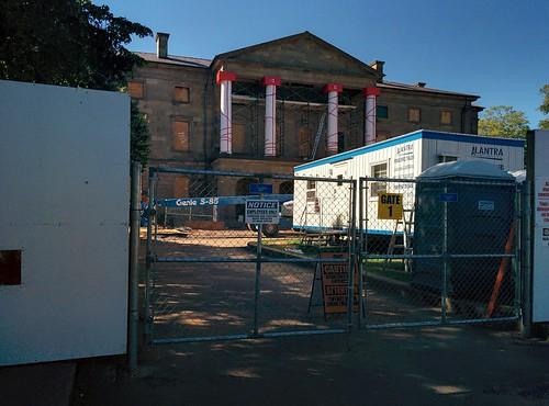Province House behind barriers #pei #princeedwardisland #charlottetown #provincehouse