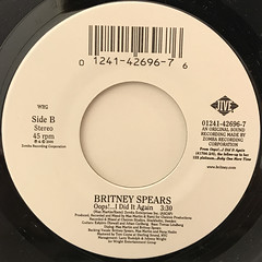BRITNEY SPEARS:OOPS!...I DID IT AGAIN(LABEL SIDE-B)