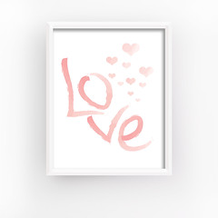 Love Wall Poster