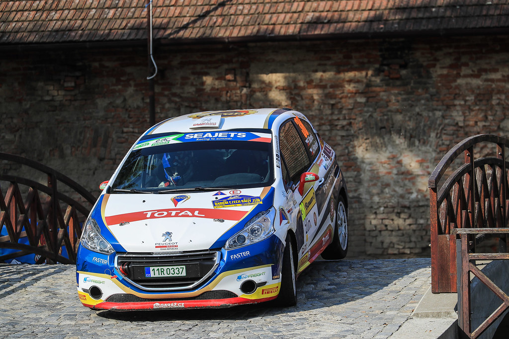 38 MARES Filip (CZE) HLOUSEK Jan (CZE) Peugeot 208 R2 action during the 2017 European Rally Championship ERC Barum rally,  from August 25 to 27, at Zlin, Czech Republic - Photo Jorge Cunha / DPPI