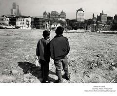 Demolition area  empire state plaza/south mall   albany ny  1963