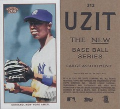 2002 / 2003 - Topps 206 Mini Baseball Card / Series 3 / Uzit - ALFONSO SORIANO #312 (Second Base / Outfielder) (New York Yankees)