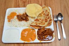 Goat masala, paneer makhani, yoghurt raita rice, roti, papadom AUD12.50 - Chilli India, Melbourne Central